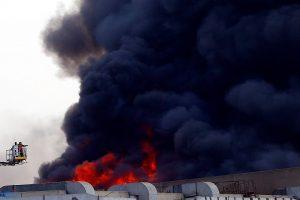 حصيلة الإصابات والوفيات في حريق قاعة المؤتمرات الدولية