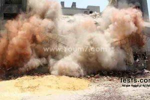 صور استمرار أعمال هدم مقر الحزب الوطنى بالقاهرة
