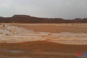 بالصور.. سيل وادي السعال بجنوب سيناء يقتل طفلة ويهدم منازل