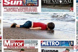 """صحف العالم تنتفض للطفل السوري الغريق """" إيلان """""""