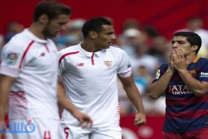 برشلونة يسقط أمام أشبيلية بهدفين مقابل هدف بالدوري الإسباني