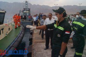 شاهد صور المناورة المصرية الأردنية لإنقاذ ركاب عبارة غارقة