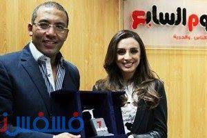 اليوم السابع تكرم المطربة أنغام علي نجاح ألبومها الجديد