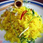 طريقة عمل الأرز المصري أو البسمتي بالكركم في المنزل