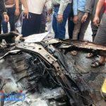 صور.. بالأسماء العثور على 3 جثث متفحمة في انفجار سيارة أبو كبير
