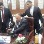 فيديو.. تحطيم وزير الخارجية لميكروفون الجزيرة الإخبارية بإجتماع سد النهضة اليوم