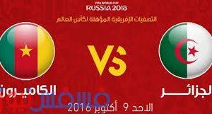 تعادل منتخبي الجزائر والكاميرون بنتيجة 1/1  في تصفيات كأس العالم