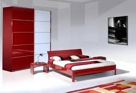 تصاميم ديكور غرف نوم ألوان الأحمر والأبيض والأسود