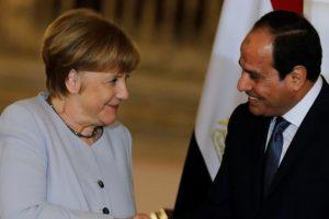 زيارة المستشارة الألمانية إنجيلا ميركل في القاهرة