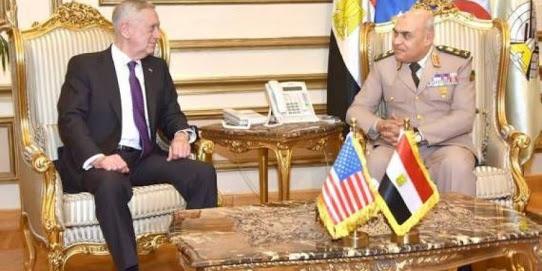 وزير الدفاع صدقي صبحي يكافح الاٍرهاب مع نظيره الأمريكي