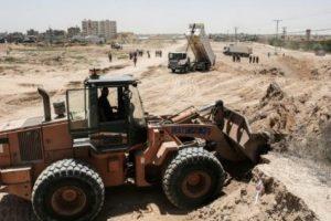 حماس تبدأ في اقامة منطقة أمنية عازلة على الحدود الجنوبية لقطاع غزة مع مصر