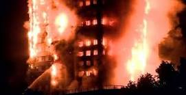 قتلي وجرحي بحريق برج جرين تاور في غرب لندن