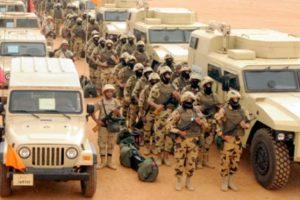 مقتل ٣٠ تكفيرياً في الهجوم علي البؤر الإرهابية بشمال سيناء