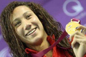 فوز فريدة عثمان أول سباحة مصرية بالميدالية البرونزية