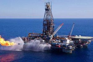 ظهور أول شعلة لحقل الغاز ظهر في البحر المتوسط
