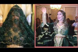 الفنانة جنات في ثوب زفافها المغربي