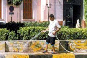 غرامات مالية كبيرة لمن يقوم برش المياه في محافظة الجيزة